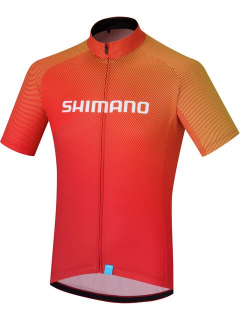 Shimano Team Kortärmad cykeltröja Herr röd